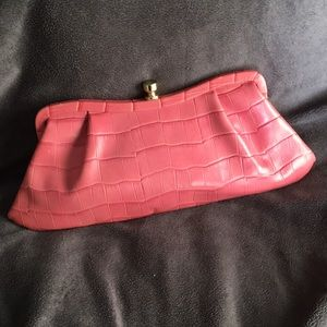 Pink clutch by Banana Republic